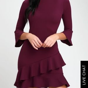 Lulus's plum purple dress
